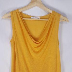 august silk Tops - August Silk Linen Cowl Neck Blouse Sleeveless Tank